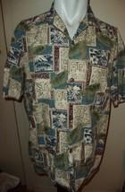 Royal Creations Men's Hawaiian Palm Trees Turtles Tribal Print Sh/Sl Shi... - $16.77