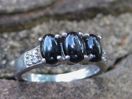MOONSTAR7SPIRITS HALLOWEEN COLLECTION BLACK MOON HEDGEWITCH RING OF MAGICK - $111.11