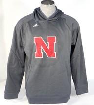 Adidas ClimaWarm Gunmetal Gray Nebraska Pullover Hooded Sweatshirt Hoodi... - $59.99