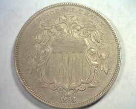 1868 SHIELD NICKEL CHOICE ABOUT UNCIRCULATED+ CH. AU+ NICE ORIGINAL COIN - $120.00