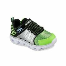 Skechers Boys Light Up Sneakers S Lights Hypno Flash 2.0 Size US 3 Lime Black - $25.00