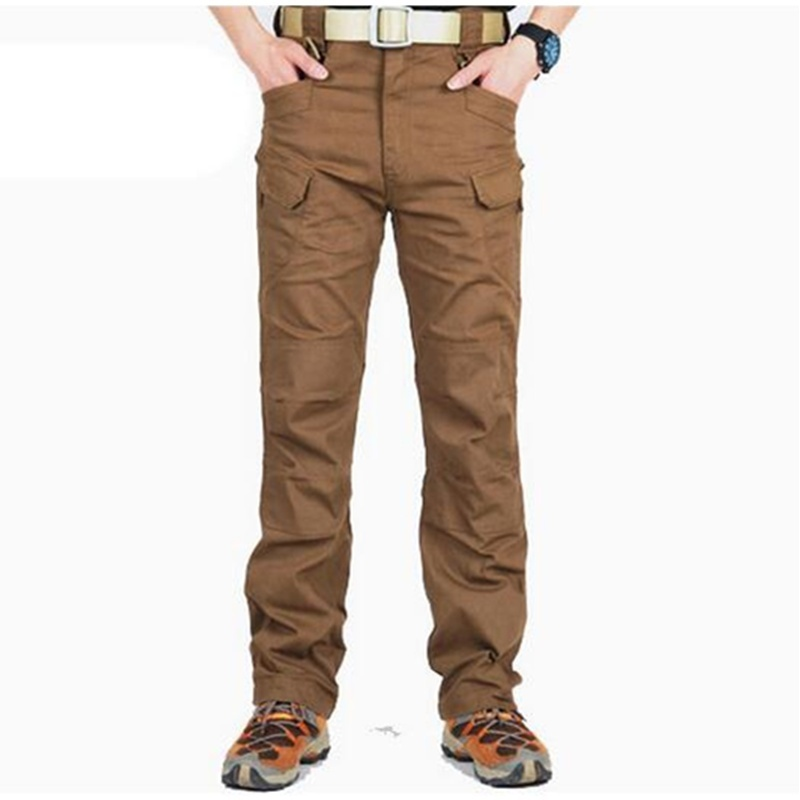 Outdoor Sports Casual Cotton Pants Mens SWAT Combat Pants Overalls Trousers Tact