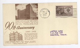 90th Anniversary of First Federal Post Office Building in Chicago IL 195... - $6.99