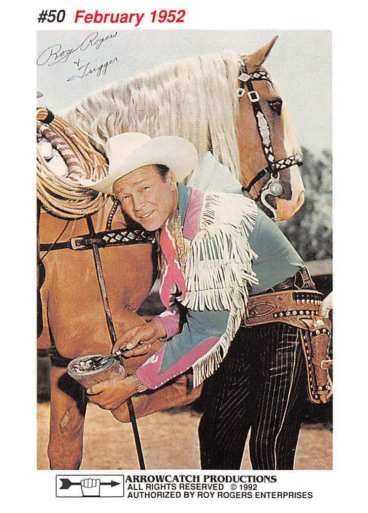 1992 Arrowpatch Roy Rogers Comics Trading Card #50 > Trigger > Happy Trail