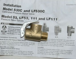 Watts 0121746 LF111L-125 1/2 1/2 Inch Lead Free Pressure Relief Valve image 1