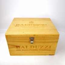 "Wood Balduzzi Chile Empty Wine Box Two Hings One Lock 13"" W x 10.5"" D x ... - $25.99"