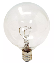 4 GE 40-Watt G16 1/2 Crystal Clear Globe Bulbs w/Candelabra Base - 320 Lumens image 2
