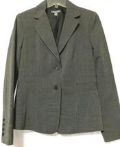 Apt 9 Womens Black/Gray 2-Button Stretch Blazer Size 8 New - $21.68