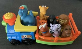 Fisher Price Little People Zoo Train Music Sounds 8 Animals Lot - $24.75