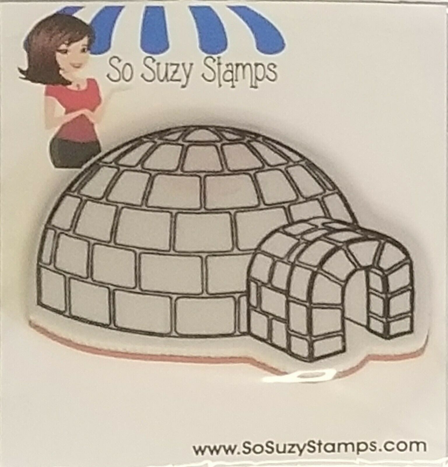 So Suzy Stamps Igloo Rubber Stamp