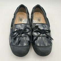 UGG Ashdale Duck Rain Skimmer Shoes Size 7 Womens 1901 Black Patent Leather - $49.45