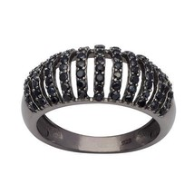 Popular Stylish Jewelry Black Spinel Gemstone 925 Sterling Silver Ring S... - $30.69
