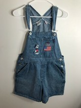Vintage Mickey Mouse USA Denim Overalls Jeans Disney Size MD - $22.72
