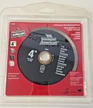 "Vermont American 28504 4"" Continuous Rim Diamond Saw Blade - $4.70"