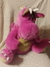 "Peponi Gund Pink Fat Dragon Plush Stuffed Animal 16"" RARE - $98.99"