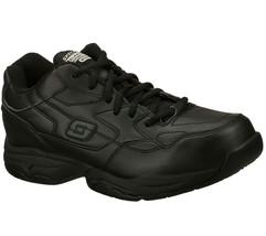 77032 Ew Ancho Negro Skechers Zapato Espuma Viscoelástica Trabajo Hombre - $47.31