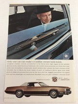Print Ad Vtg 1967 Advertising Cadillac Fleetwood Eldorado - $9.89