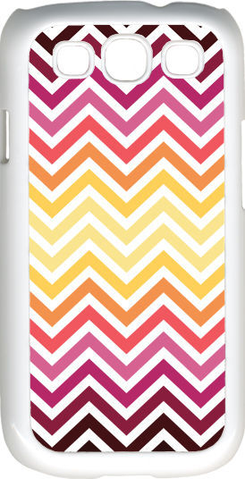 Primary image for Chevron Multi Red Designed Samsung Galaxy S3 Case Cover