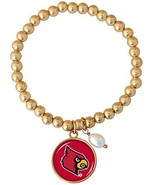 Louisville Cardinals Diana Gold and Pearl Stretch Bead Bracelet Jewelry UL - $16.82