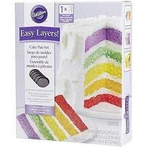 Wilton 2105-0112 Easy Layers! 5-Piece Cake Pan Set, 6-Inch - $462,39 MXN+