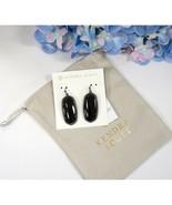 Kendra Scott Elle Gunmetal Black Glass Drop Dangle Earrings NWT - $53.96
