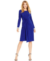 Vince Camuto New Women's Blue Embellished-cuff Wrap Dress   6 - $24.99