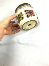MCM Brown and White Planter Flower Pot Butterflies Home Garden Decor  image 4