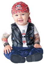 Baby Biker Costume Born To Be Wild In Character Halloween Outfit 2T NEW - $34.58 CAD