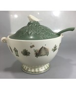 Pfaltzgraff Naturewood Soup Tureen with Ladle Stoneware Made in USA - $155.33