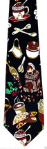 Coffee Shop Mens Neck Tie Food Necktie Beans Expresso Cappuccino Shop Bl... - $12.82