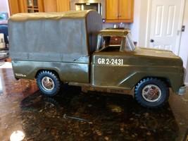 1960's Tonka #380 Troop Carrier GR2-2431 US Army Military Metal Truck w/... - $113.84