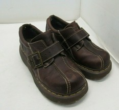 Dr. Martens 12282 Women's Size 7 Leather Brown Monkstrap Bicycle Toe - $49.45