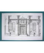 ARCHITECTURE PRINT 1867: PARIS Palace of Justice Criminal Court Hall - $22.95