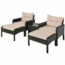 Durable 5pc Patio Rattan Wicker Sofa Furniture Set - $522.64