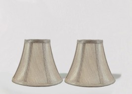 "Urbanest Chandelier Mini Lamp Shade Softback Bell Champagne 3""x6""x5"" set... - $15.83"