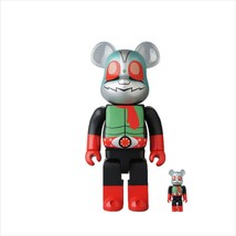 BE@RBRICK 400% & 100% Kamen Rider New No. 2 Medicom Toy Figure - $180.99