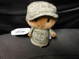 "Hallmark Itty Bitty's ""Military Camo Girl African American Green"" 2016 N... - $13.81"