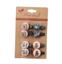 Set of 8 Beautiful Adorable Hair Clips Baby Girls Colorful Hair Pins, NO.7