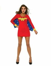 Rubie's DC Superheroes Wonder Woman Adult Wing Dress Red Blue Small Star... - $19.86