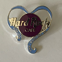 Hard Rock Cafe HRC Kowloon 1999 Valentine's Day PIN Heart with Ribbon - $11.26