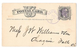 UX5 New Milford Ohio ca 1880 Fancy Star Cancel 1857 - 1967 DPO - $4.99