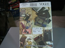 Vogue Marcy Tilton V8407 Bags, Eyeglass Case & Journal Cover Pattern - $15.83