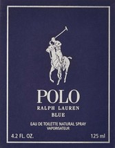 Ralph Lauren Polo Blue Eau De Toilette Spray for Men 4.2 oz New In Box - $74.57