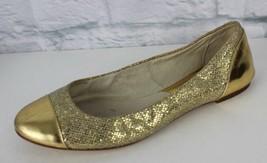 Michael Kors Shala Femmes Ballerines Plat or Paillette à Enfiler Taille 6.5 - $23.13
