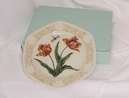 PartyLite Tulip Candle Plate Botanical Collection Porcelain Dishwasher S... - $16.78