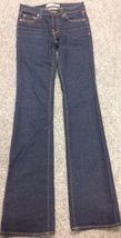 Anthropologie Women's J BRAND Jeans Dark Wash Boot Stretch Mint Long Size 25 image 3