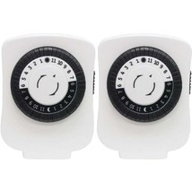 GE(R) 15417 24-Hour Polarized Plug-in Mechanical Timer with 48 On/off & ... - $30.57