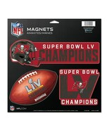 Tampa Bay Buccaneers WinCraft Super Bowl LV Champions 3-Piece Magnet Set - £7.91 GBP