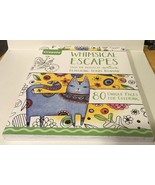 Crayola Whimsical Escapes Adult Coloring Book Hallmark Artists Terry Run... - $14.01