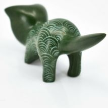 Vaneal Group Hand Carved Kisii Soapstone Green Pouncing Kitten Cat Figurine image 3